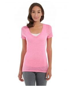 Karissa V-Neck Tee-XS-Red